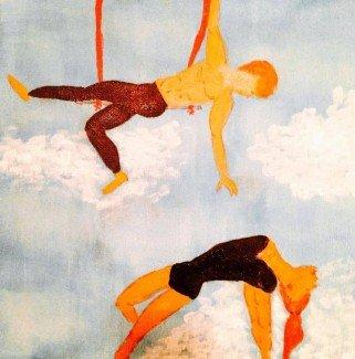 À deux sur un trapèze di Caroline Lassée