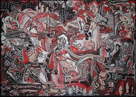 Malebande e storie di una famiglia - 70x50, tecnica mista di Martina Brizzi