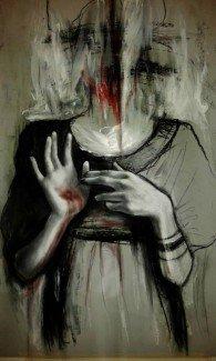 myself (pastello ad olio) di Martina Figliomeni